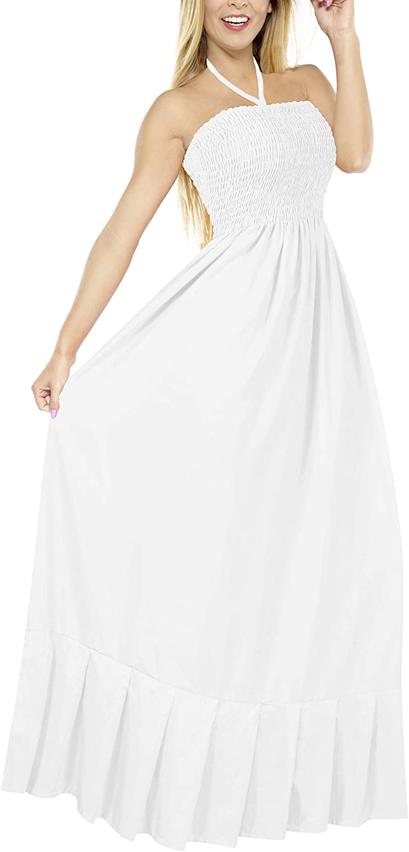 fc20fdec6cc LA LEELA Women s One Size Beach Dress Tube Dress One Size at Amazon Women s  Clothing store