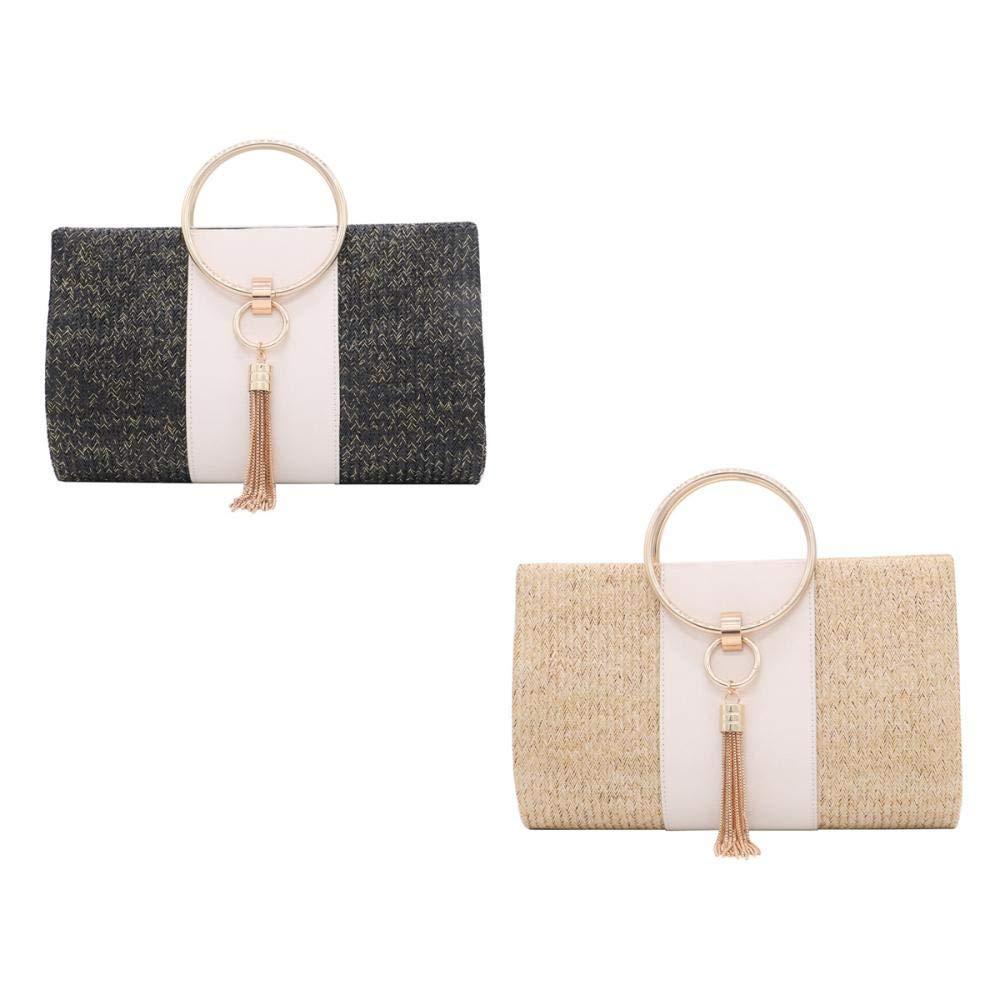 sac /à main en paille sac /à main Sac /à bandouli/ère en rotin tiss/é pour femme sac /à main