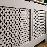 Vida Designs Oxford Radiator Cover Grey Traditional Painted MDF Cabinet, X-Large