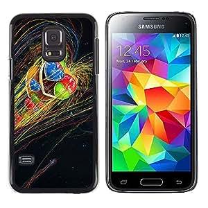 TECHCASE**Cubierta de la caja de protección la piel dura para el ** Samsung Galaxy S5 Mini, SM-G800, NOT S5 REGULAR! ** Heart Red Blue Green Universe Rainbow Lgbt