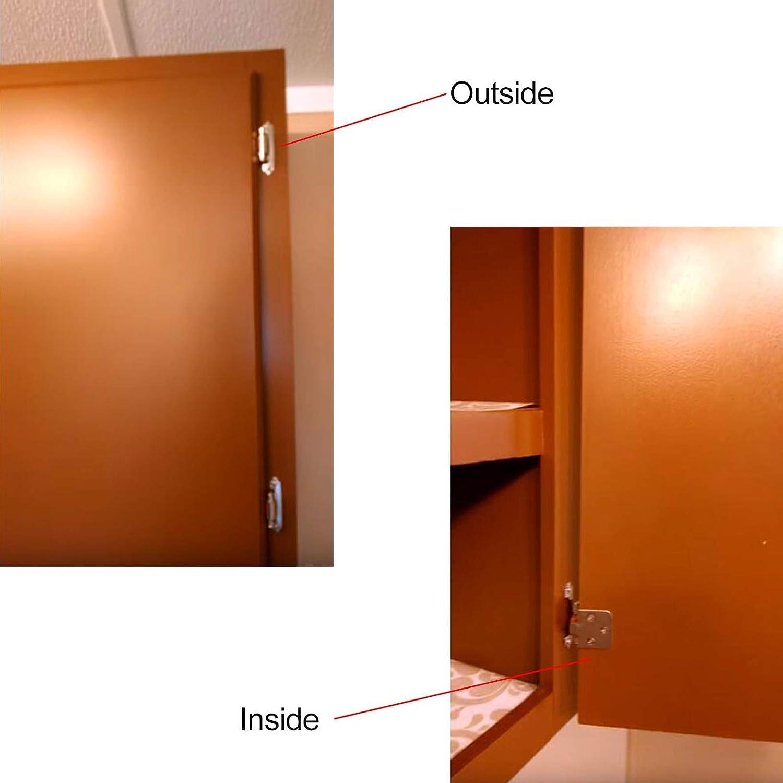 Probrico Self cerca de cocina armario bisagras ch197 oculta bisagra para puerta de armario muebles Hardware Accesorios Accesorios: Amazon.es: Bricolaje y herramientas