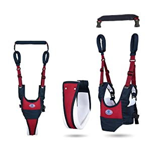 Baby Walker Toddler Walking Assistant, Deralaon Handheld Stand Up and Walking Learning Leash Kids Safety Breathable Walking Harness Walker for Baby 6-27 Months (Red)