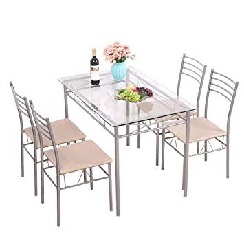 Amazon Com Cypress Shop Dining Table Set Modern Style