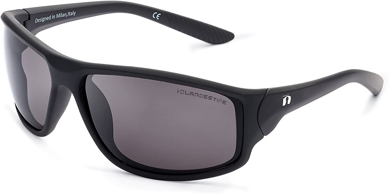 CLANDESTINE Curve Matte Black - Gafas de sol Nylon HD Hombre & Mujer