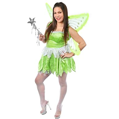 Plus Size Sexy Pixie Fairy Costume (Size 16-18)  sc 1 st  Amazon.com & Amazon.com: Plus Size Sexy Pixie Fairy Costume (Size: 16-18): Clothing