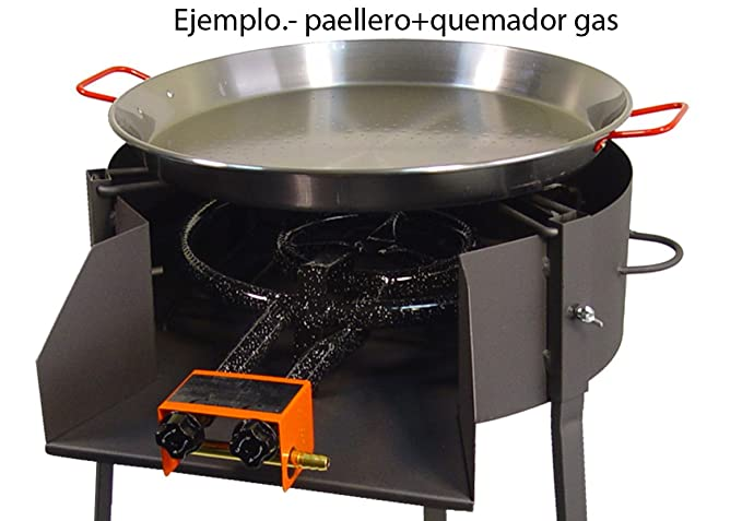 IMEX EL ZORRO 71580 - Barbacoa Redonda con Soporte para Paella, diámetro 40 x 75 cm: Amazon.es: Jardín