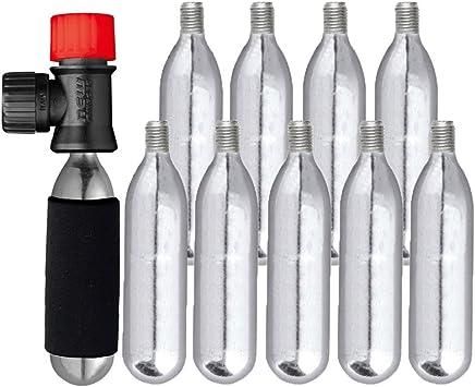 10 x CO2 16 G botes bomba inflador bicicleta ciclo Mikrobo: Amazon ...