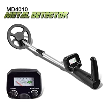 Detector de metales shuogou md-4010 oro encontrar máquina para principiantes pantalla LCD impermeable Bobina
