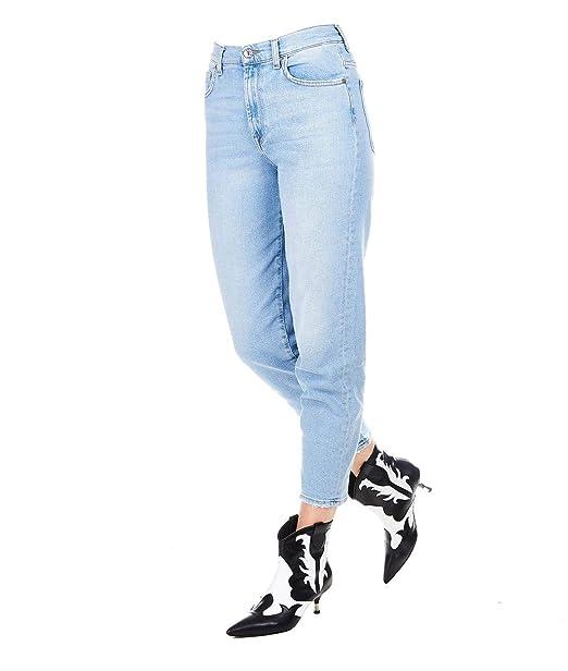 e46b25f0c 7 For All Mankind Mujer JSA71200ZVBLU Azul Claro Algodon Jeans ...