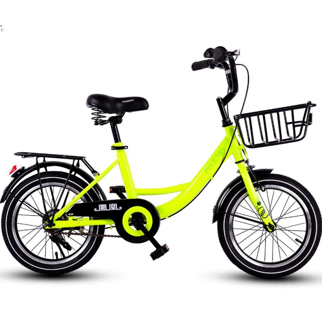 子供の自転車16インチの女の子サイクリング3-12歳の男性と女性の子供のベビーカーの学生屋外マウンテンバイク (色 : イエロー いえろ゜) B07D6MZCBXイエロー いえろ゜