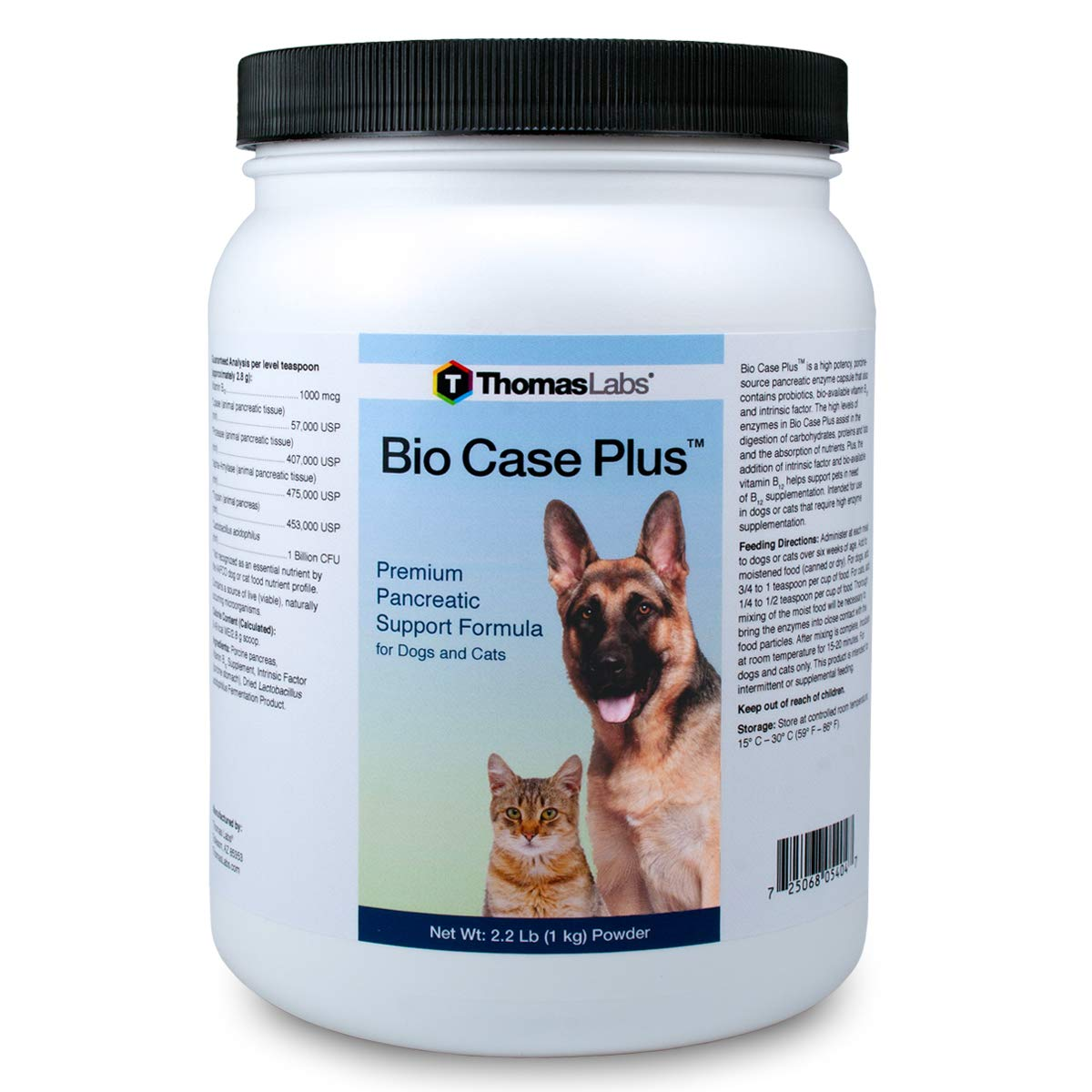Thomas Labs Bio Case Plus - Pancreatic Enzymes for Dogs & Cats - Digestive Supplement 2.2 lbs by Thomas Labs