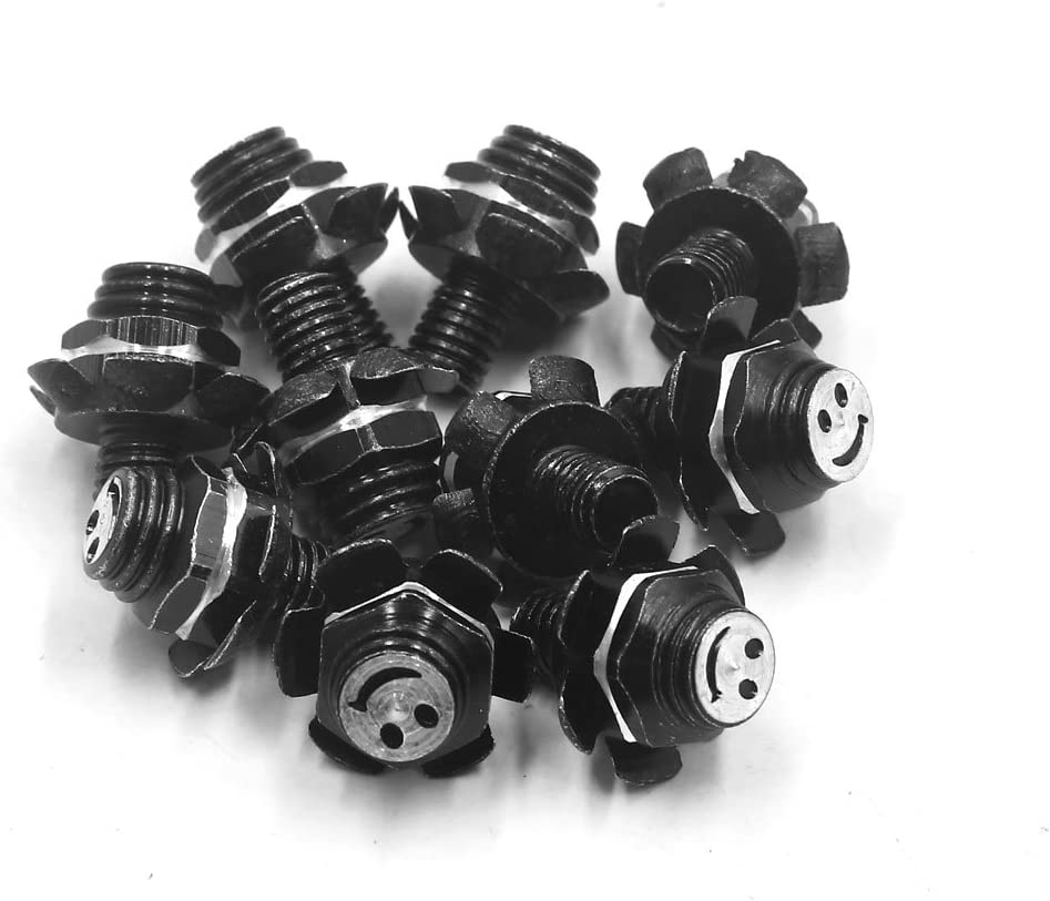 uxcell 10Pcs M8 x 10mm Flower Shape Motorcycle License Plate Screw Bolts Fastener Black