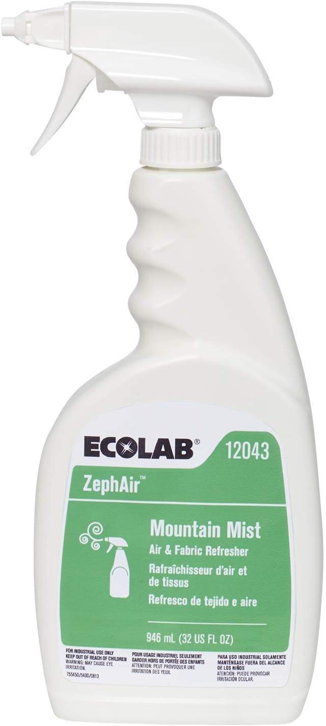 Ecolab 12043 ZephAir Mountain Mist Air Freshener, Commercial-Grade Room Freshener, 32oz Spray (Each)