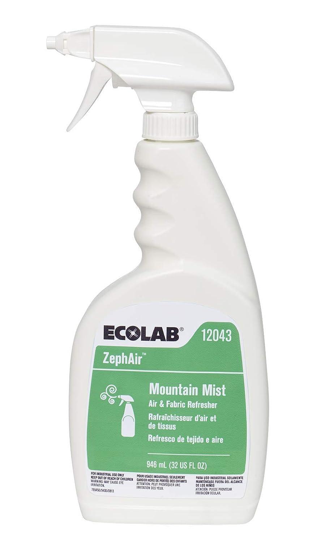 Ecolab 12043 ZephAir Mountain Mist Air Freshener, Commercial-Grade Room Freshener, Case of 6