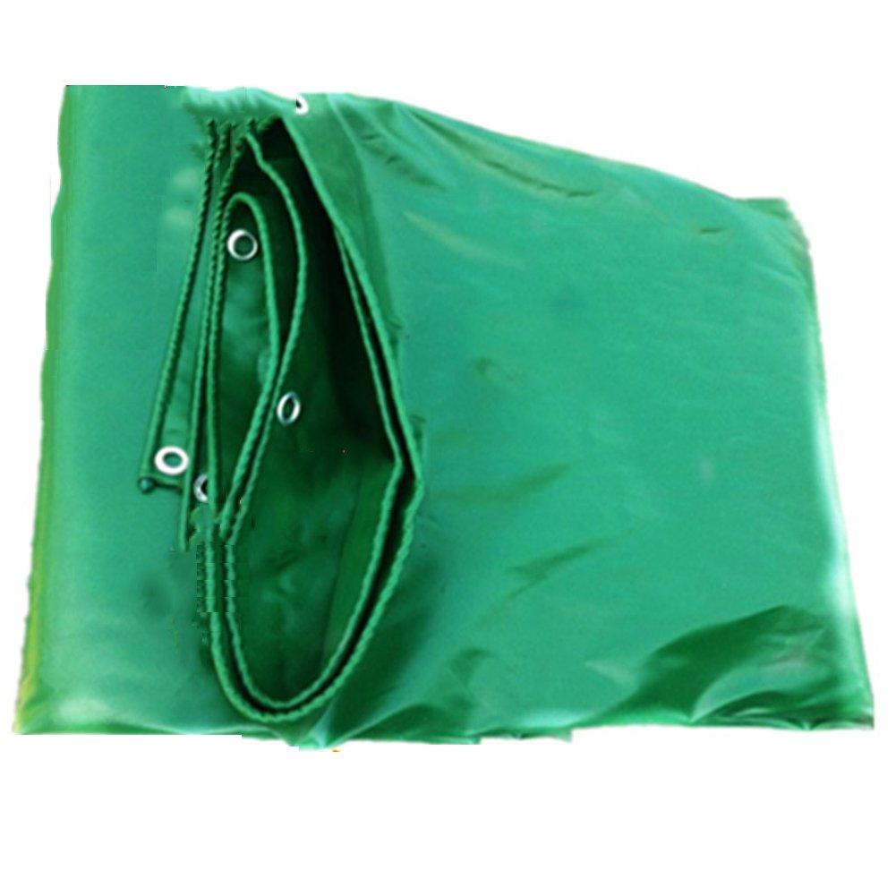 PENGFEI オーニング 防水 防塵の 園芸 日焼け止め 車 杼口 霜の保護 耐腐食性、 PVC、 緑 厚さ0.48mm、 500g / m 2、 オプションの6サイズ ( 色 : 緑 , サイズ さいず : 6x8M ) B07BN1P66P  緑 6x8M