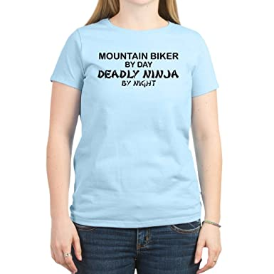 Amazon.com: CafePress Mountain Biker Deadly Ninja Crew Neck ...