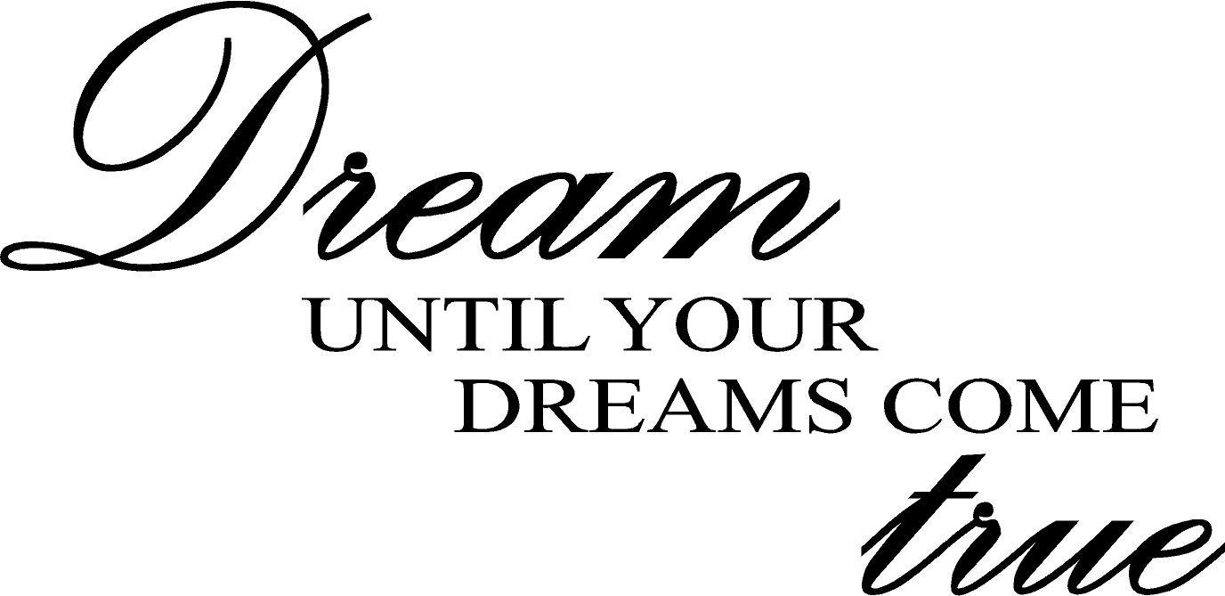 Dream until your dreams come true wall art wall sayings home decor dream until your dreams come true wall art wall sayings home decor products amazon altavistaventures Choice Image