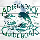 """Marmont Hill Adirondack Guideboats Painting Print on White Wood, 32""""x32"""" offers"""