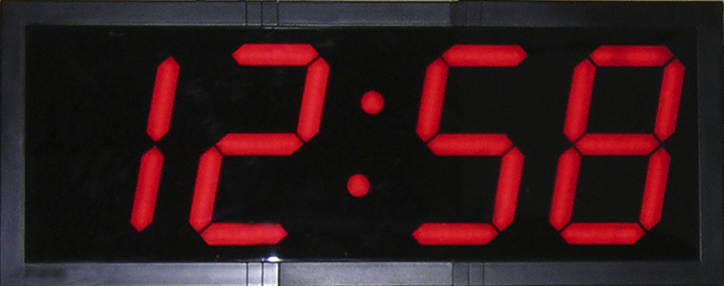 School Smart High Visibility Large LED Clock with Remote Control, 28 Inches