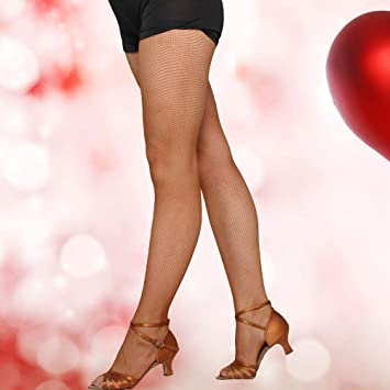 f39ddceb27c Buy Women Stockings Top High Waisted Professional Fishnet Pantyhose for  Latin Dance (Caramel Colour) Online at Low Prices in India - Amazon.in
