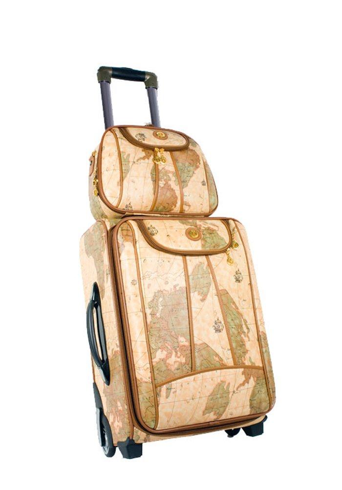 Amazon.com: World Map Design 2 Piece Rolling Luggage & Cosmetic