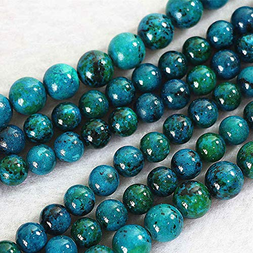 Calvas Fashion Chrysocolla Phoenix Stone 4mm 6mm 8mm 10mm 12mm 14mm Round & Faceted Round DIY Loose Beads 15inch B500 - (Color: 6mm)
