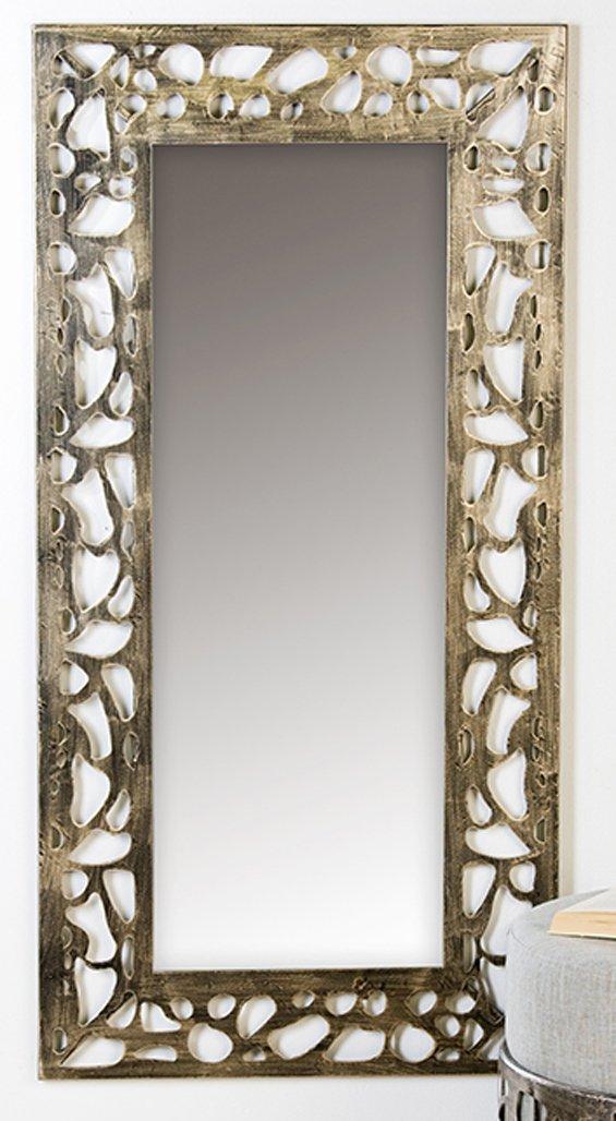 Miroir en métal Ellis ant. or gewisch60 x 120 cm