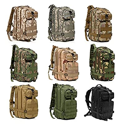OuterStar Sport Outdoor Comfortable Waterproof Assault Pack Military Rucksacks Tactical Molle Backpack Camping Hiking Trekking Climbing Bag