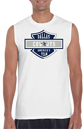 amazon com coboys harley davison white muscle t clothing
