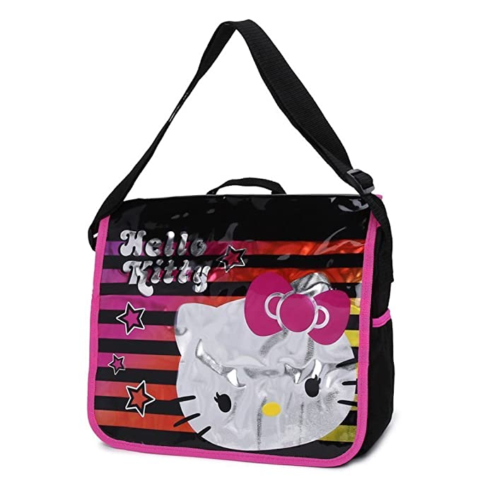 Image result for Hello Kitty Messenger Bag / School Book Bag