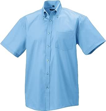 Russell Collection - Camisa de manga corta Diseño Ultimate Modelo Non-Iron Hombre caballero - Trabajo/Boda/Fiesta: Amazon.es: Ropa y accesorios