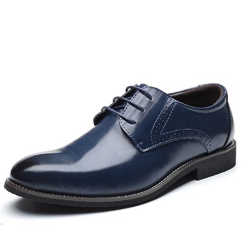 Zapatos Estilo Oxford en Piel Marrón.48 Lm6WA