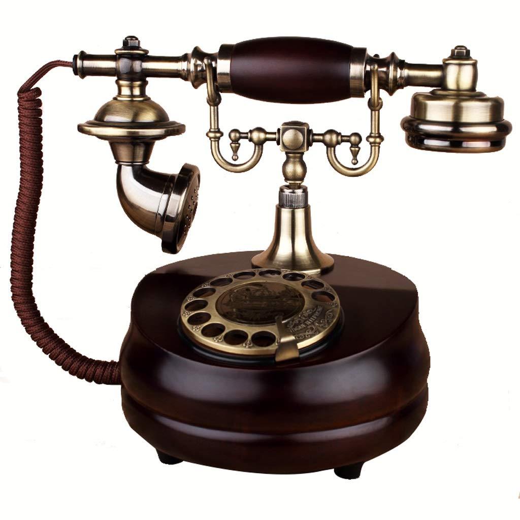 ビンテージアンティークスタイルプッシュボタン回転式ダイヤル電話、ビンテージクラシック有線電話、家庭用およびオフィス用装飾、さまざまなスタイルから選択可能 (三 : Rotating) B07JVHQZ31 Rotating
