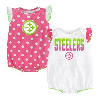 649df7ca Amazon.com : Pittsburgh Steelers Baby Girl Polka Dot Set, 0-3 Months ...