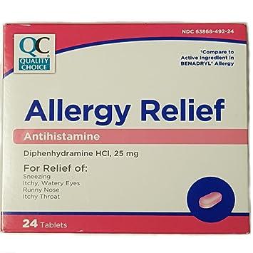Amazon com: Quality Choice Allergy Relief Antihistamine 24 Tablets