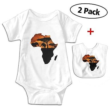 925783f7ed5ba Amazon.com: African Map Elephant Sunset Baby Boys' Cotton Short ...