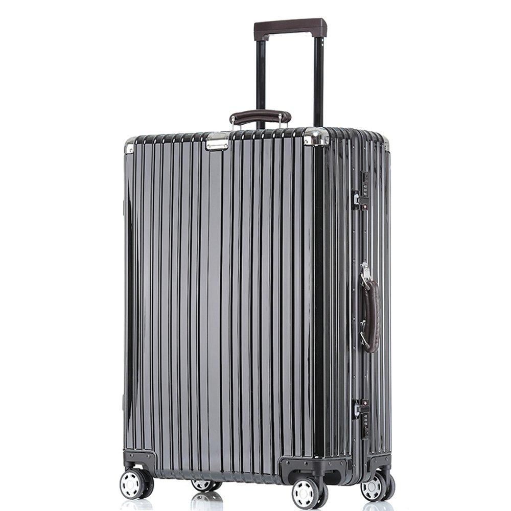 クロース(Kroeus)キャリーケース スーツケース TSAロック搭載 旅行 出張 大容量 復古主義 8輪 超軽量 機内持込可 B01NADC2M1 M|ブラック ブラック M