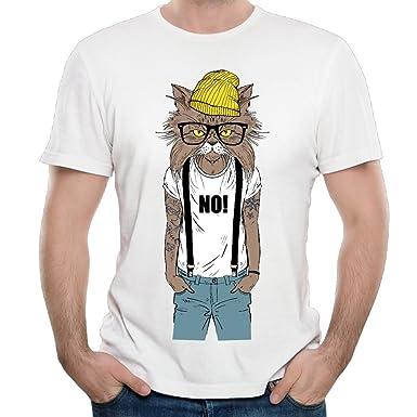 bfb85eaef9f Fashion Cat Wears Suspender Trousers Custom Mens T-Shirt Fashion Design T- Shirts