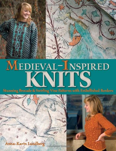Medieval-Inspired Knits: Stunning Brocade & Swirling Vine Patterns with Embellished Borders - Embellished Square