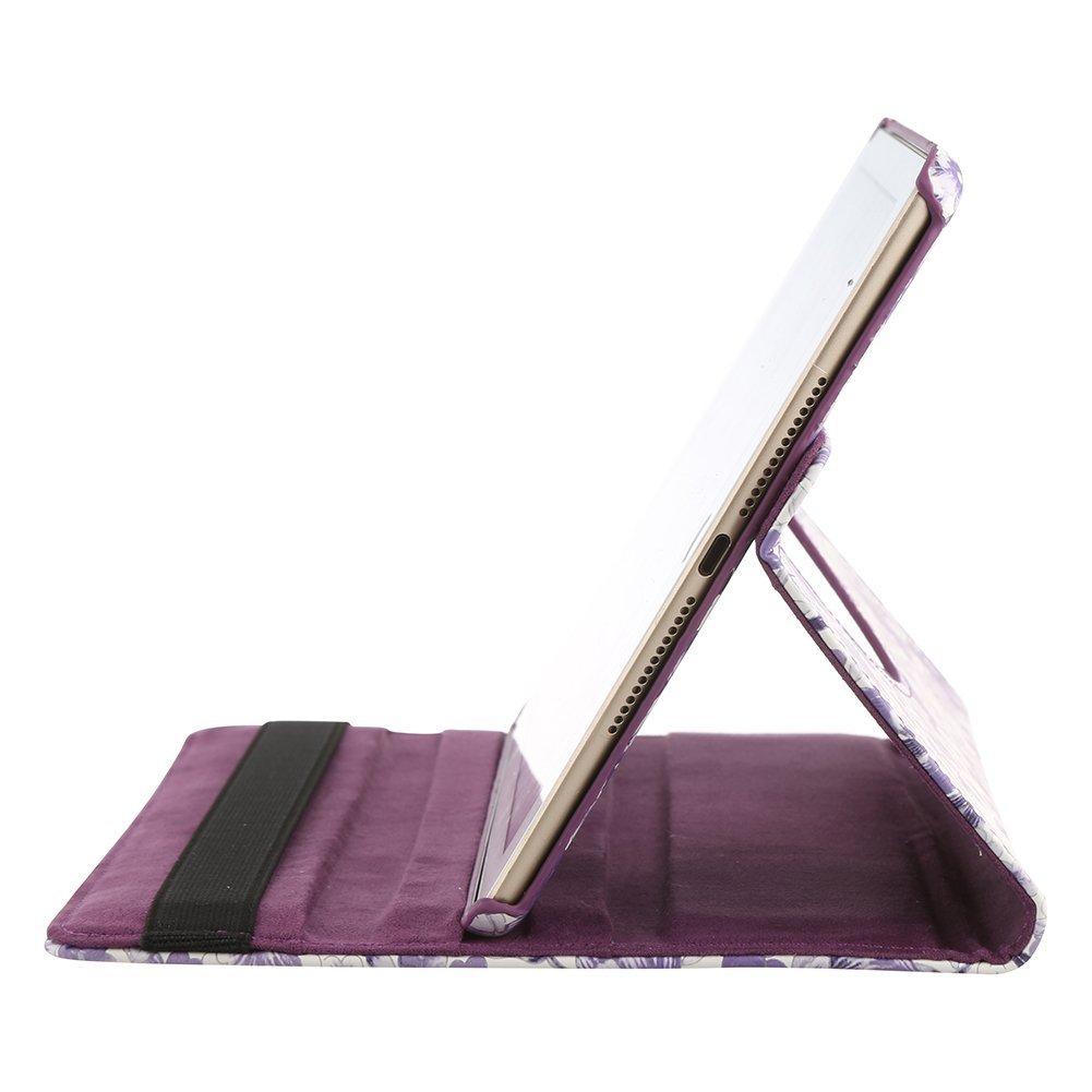 360/gradi girevole PU Custodia in pelle Smart Cover supporto per iPad Mini Mini2/7.9/pollici Tablet Custodia w Pennino Black Camellia Pattern