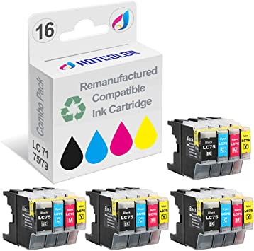 10 PACK LC75 LC71 Compatible Ink Cartridge for Brother LC75BK LC-75C LC75M LC75Y