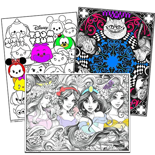 (Disney Coloring Poster Set for Kids Adults -- 3 Giant Coloring Posters Featuring Alice in Wonderland, Disney Princess and More (18