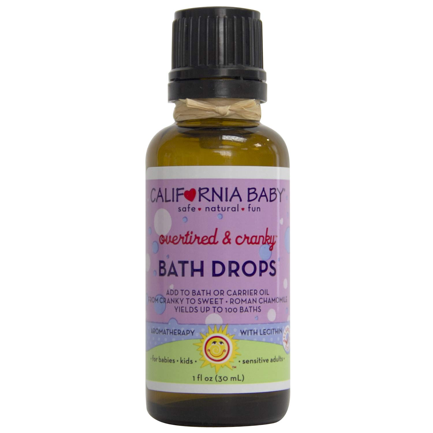 California Baby Essential Oil Bath Drop - Overtired & Cranky - 1 oz by California Baby