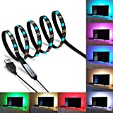 SZC Led Strip TV Backlight Bias RGB Lights Kit with Remote Control for HDTV, Flat Screen, Desktop PC Monitors Accessories