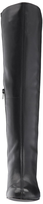 Nine West Women's Knowone Leather Knee High Boot B0719DLB4G 6 B(M) US|Black/Black Leather