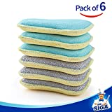 MR. SIGA Dual Action Scrubbing Sponge, Pack of
