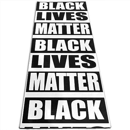 Amazon.com : JNSHO-G Yoga Mat, Black Lives Matter Outdoor ...