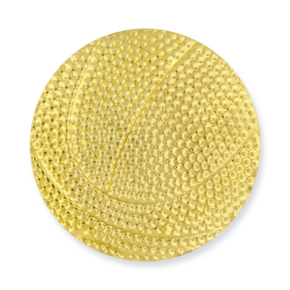 Basketball Gold Chenille Sports Lapel Pin