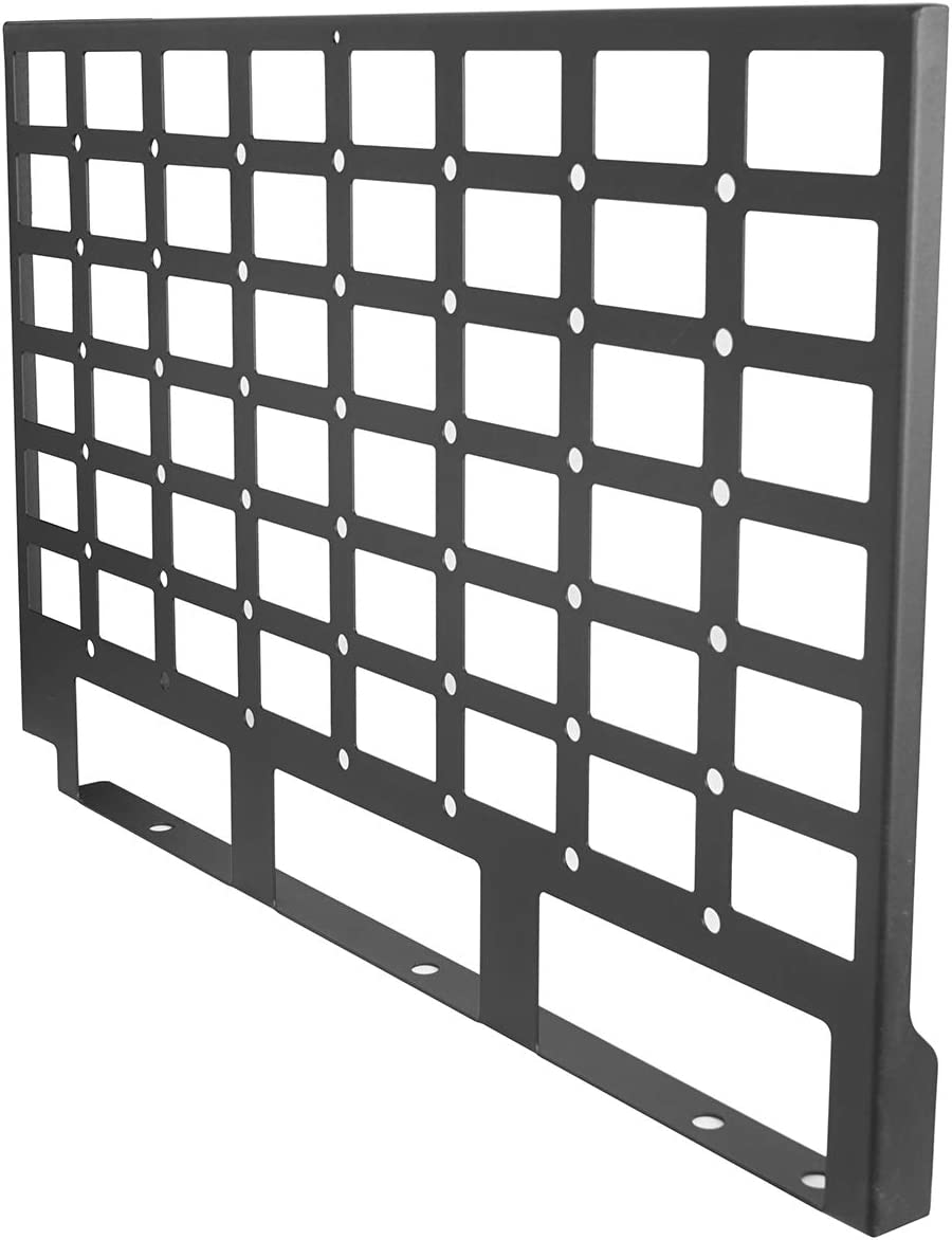 Hooke Road Hardtop Rear Window Molle Panel Flank Interior Storage Kit for Jeep Wrangler JK Unlimited 4-Door 07-18 Pair