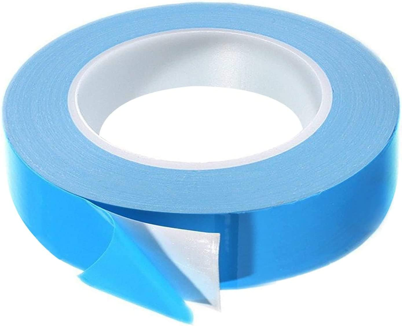 Thermal Adhesive Tape, 25m x 15mm x 0.20mm High Performance Double Side Thermal Tapes Cooling Pad Apply to Heatsink, LED, IGBT, IC Chip, Computer CPU,GPU, Modules, MOS Tube, SSD Drives